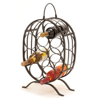 Iron Metal 10-bottle Wine Holder