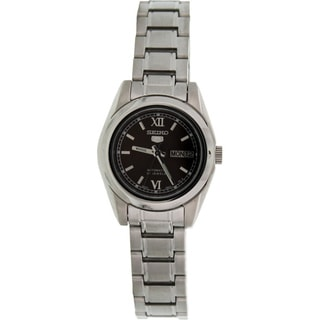 Seiko Women's '5 Automatic' Silvertone Stainless Steel Automatic Watch