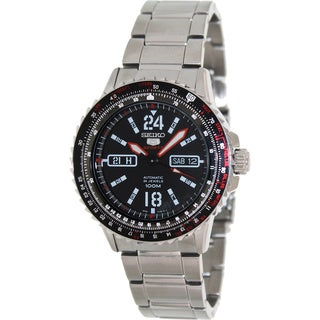 Seiko Men's '5 Automatic' Multi-function Stainless Steel Watch