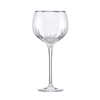 Lenox Firelight Platinum Signature Crystal Balloon Wine Glass