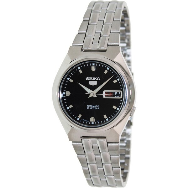 Seiko Men's '5 Automatic' Black Dial Automatic Watch