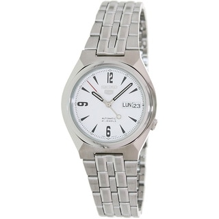 Seiko Men's Automatic Silver Stainless-Steel Automatic White-Dial Watch