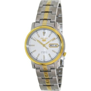 Seiko Men's Automatic Two-Tone Stainless-Steel White-Dial Automatic Watch
