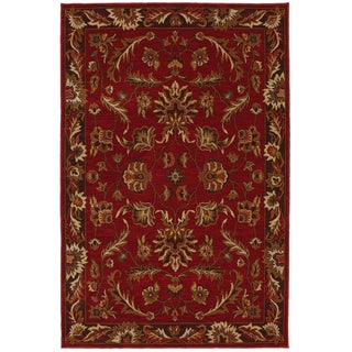 Karastan Knightsen Walnut Park Red Rug (5'6 x 8'3)