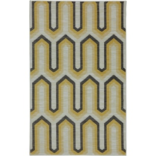 Karastan Panache Willis Tower Goldenrod Rug (5'6 x 8'3)