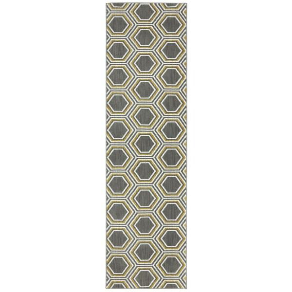 Karastan Panache Honey Queen Bungee Cord Rug (2'4 x 8'3)