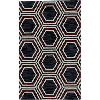 Karastan Panache Honey Queen Black (2'11 x 4'8)