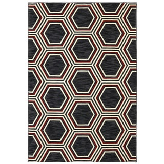 Karastan Panache Honey Queen Black (9'6 x 12'11)