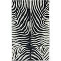 Karastan Panache Serengeti Gallery Black Rug (2'11 x 4'8)