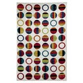 Striped Dots Rainbow Rug (5' x 8')