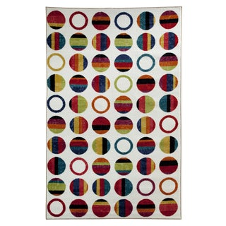 Striped Dots Rainbow Rug (8' x 10')