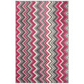 Ziggidy Pink Rug (5' x 8')