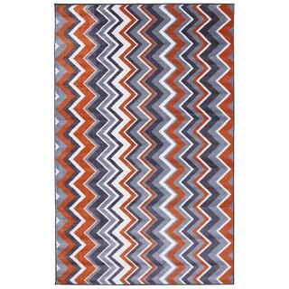 Ziggidy Tangerine Rug (5' x 8')