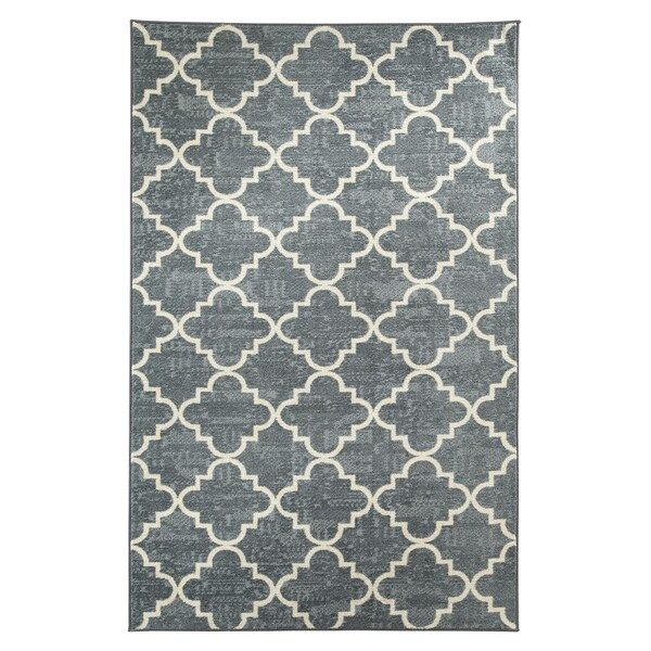 Fancy Trellis Gray Rug (8' x 10')