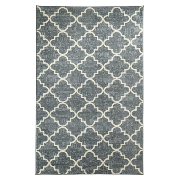 Mohawk Home Fancy Trellis Gray Rug (8' x 10')