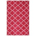 Fancy Trellis Hot Pink Rug (8' x 10')