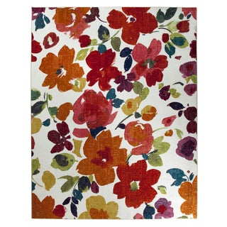 Bright Floral Toss Multi Rug (5' x 8')