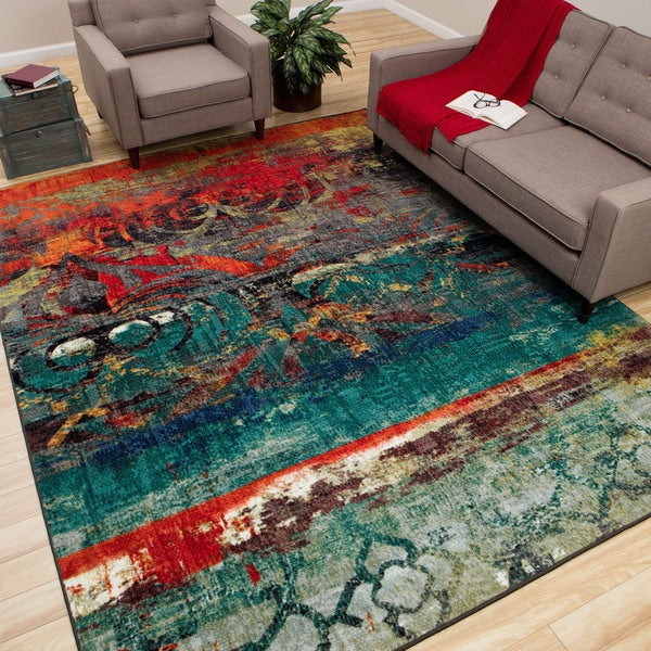 Mohawk Home Eroded Color Multi Rug 5 X 8 15600004
