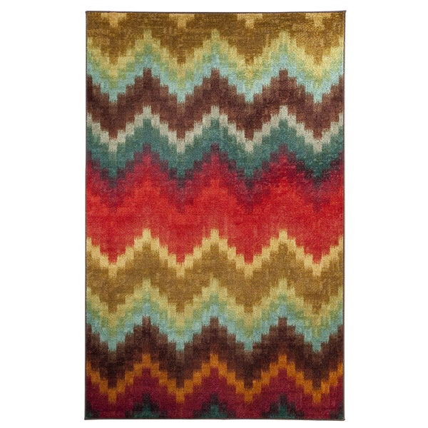 Mohawk Home Painted Zig Zag Multi Rug (8' x 10')