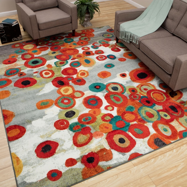 Mohawk Home Tossed Floral Multi Rug (8' x 10')