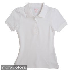 SB French Toast Girls Short Sleeve Stretch Pique Polo Shirt