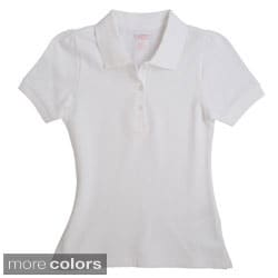 French Toast Girls Short Sleeve Stretch Pique Polo Shirt