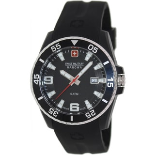 Swiss Military Hanowa Men's Ranger Black Rubber Swiss Black Dial Quartz Watch