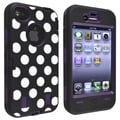 BasAcc Purple/ Dots Hybrid Case for Apple� iPhone 4/ 4S