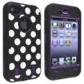 BasAcc Purple/ Dots Hybrid Case for Apple iPhone 4/ 4S