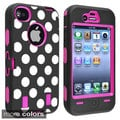 BasAcc Hot Pink/ Dots Hybrid Case for Apple? iPhone 4/ 4S