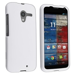 BasAcc White Rubber Coated Case for Motorola Moto X