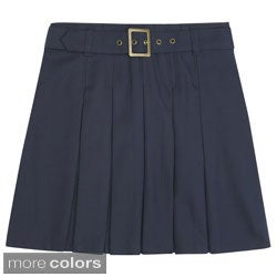 French Toast Girls Front Pleated Skirt with Tabs