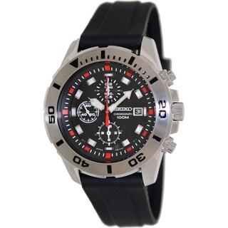 Seiko Men's SNDD95P2 Black Silicone Quartz Watch