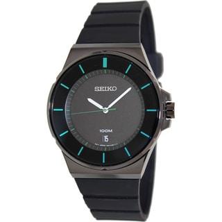 Seiko Men's SGEG23 Black Silicone Quartz Watch
