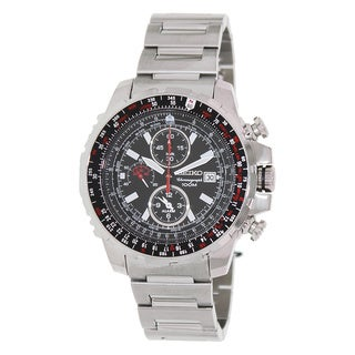 Seiko Men's SNAD05 Silver Stainless Steel Analog Quartz Watch
