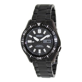 Seiko Men's Automatic Diver SKZ329 Black Stainless Steel Automatic Watch