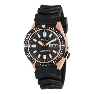 Seiko Men's Automatic Diver SKZ330 Black Rubber Automatic Watch