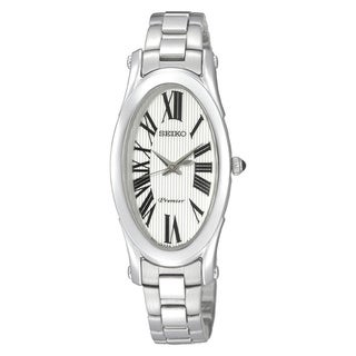 Seiko Women's 'Premier' Silvertone Stainless Steel White Dial Quartz Watch