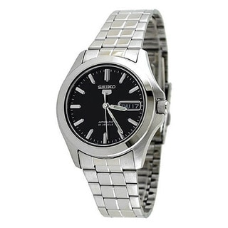 Seiko Men's '5 Automatic' Silvertone Stainless Steel Automatic Watch