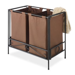 Whitmor Folding Java Double Hamper