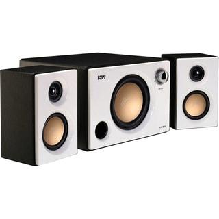 HiVi M10 2.1 Speaker System - 31 W RMS - Black, Pearl White