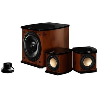 HiVi M-20W 2.1 Speaker System - 80 W RMS - Glossy Piano Lacquer, Waln