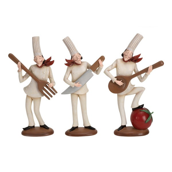 Polystone Assorted Chef Figurines (Set of 3)