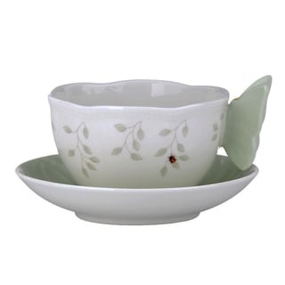 Lenox Butterfly Meadow Green Butterfly Cup/ Saucer Set