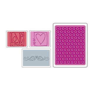 Sizzix Textured Impressions Embossing Folders 4-pack Love Set by Stu Kilgour