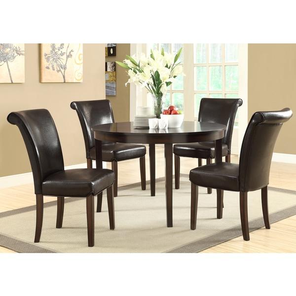 Dark Espresso Veneer Top 48 Inch Dining Table 15601392 Overstock