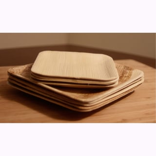 Compostable Palm Leaf Plates - Square (Pack of 100)