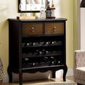 Antique Black Veneer 37-inch Traditional Wine Chest