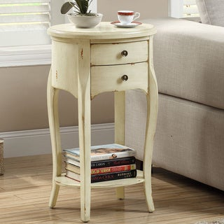 Antique White Veneer 29-inch Accent Table