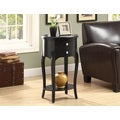 Antique Black Veneer 29-inch Accent Table